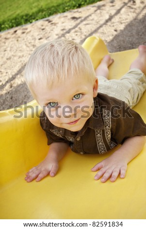 Cute Little Boy on the Playground