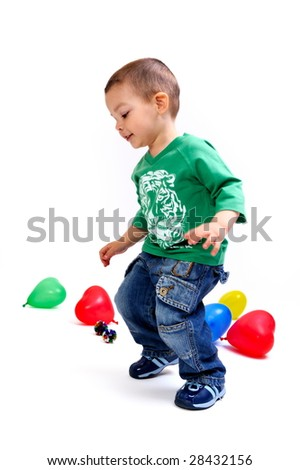 cute little boy playing