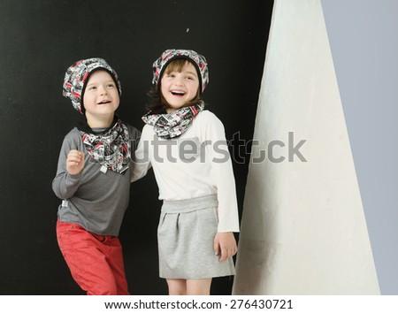 Cute little couple - stock photo