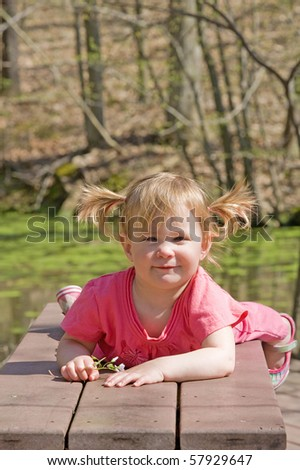 Cute Little Girl Playing at the Park - stock photo