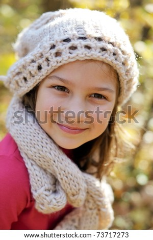 cute little girl portrait - stock photo