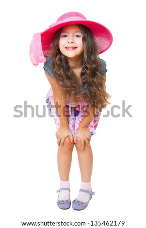 cute little girl posing - stock photo