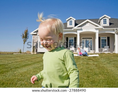 Cute Little Girl Smiling - stock photo