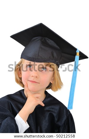 Cute little graduate student is thinking