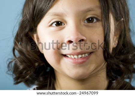 Cute little Hispanic girl portrait