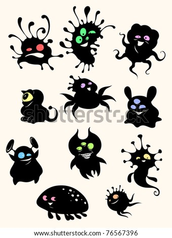 Cute little monsters - stock photo