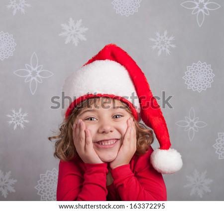 Cute little Santa Claus - stock photo