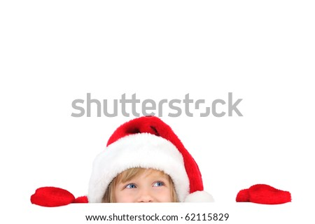 Cute little Santa helper - stock photo