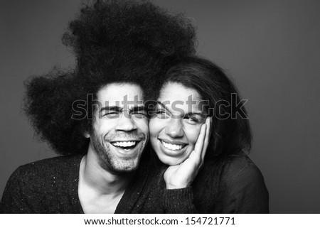 Cute Love Couple - stock photo