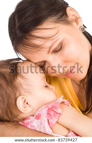 cute mom with her cute little daughter