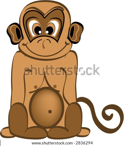 Cute Monkey, also available as a vector