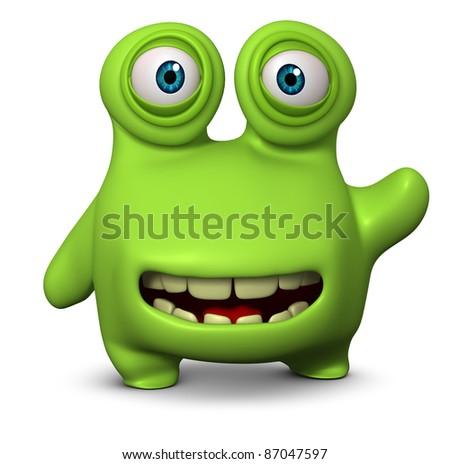 cute monster - stock photo