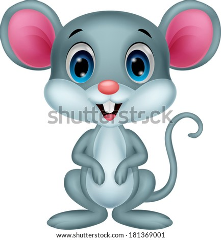 Cute mouse cartoon - stock photo