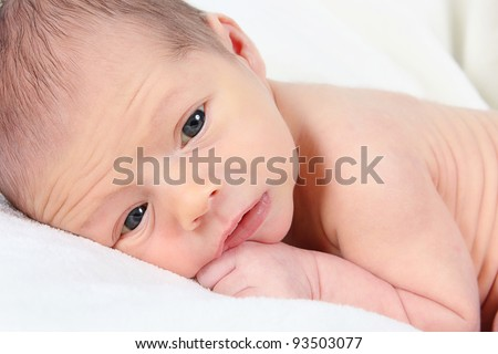 cute newborn boy