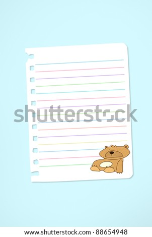 Cute note - stock photo