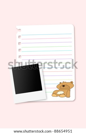Cute note with bank photo - stock photo