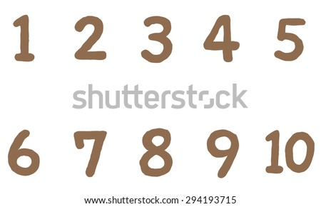 Worksheets 1 To 10 Numbers cut out numbers on colorful circles stock illustration 294194021 cute 1 to 10