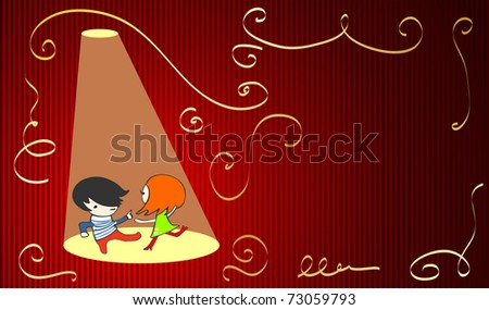 cute party invitation, for vector version see image no. 64179253 - stock photo