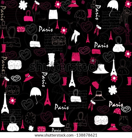 cute pattern. illustration - stock photo
