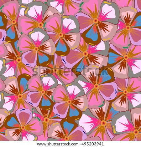 Cute pattern in small flower. Small colorful flowers. Motley illustration. Spring floral background. The elegant the template for fashion prints.