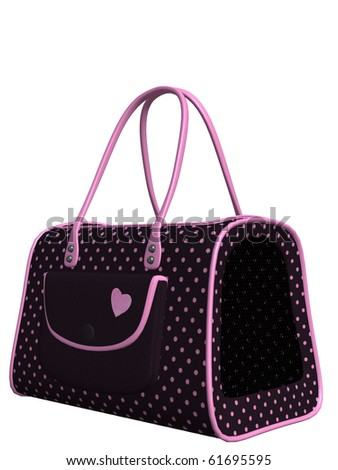 cute pink pet carry case handbag