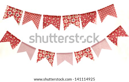 Cute red and pink flowers banners. - stock photo