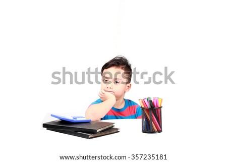 Cute schoolboy - stock photo