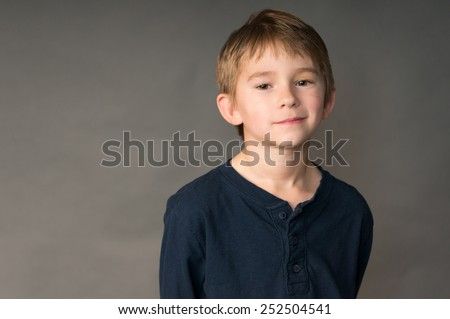 Cute seven year old boy - stock photo