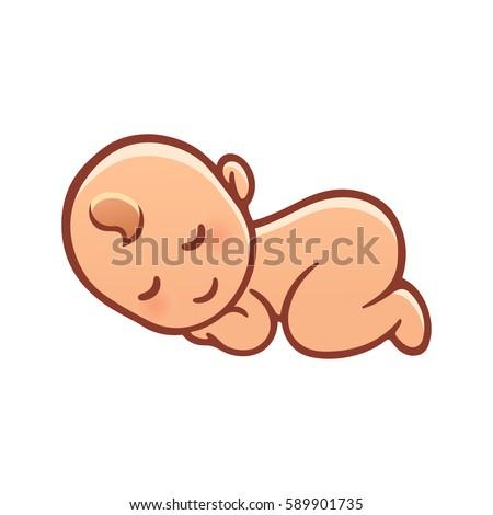 simple cartoon newborn child illustration