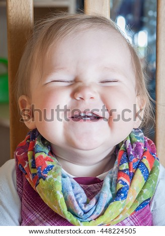 Cute smiling baby - stock photo