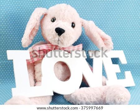 cute teddy bear concept valentine day - stock photo