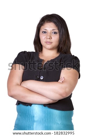 Cute teenager Posing with her arms crossed