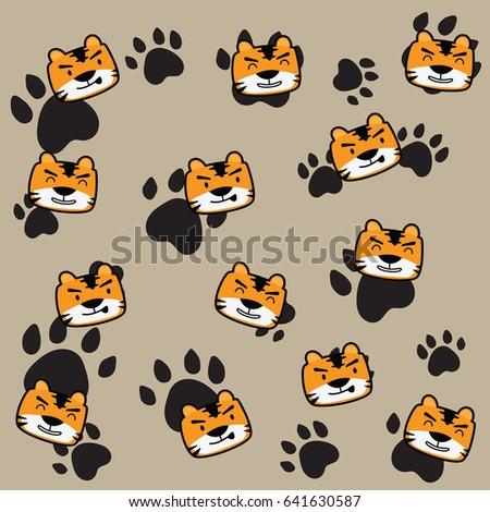 Cute Tiger Memo Wallpaper Background