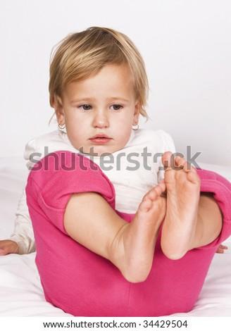 Cute toddler girl - stock photo