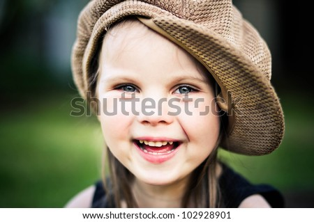 Cute toddler girl portrait - stock photo