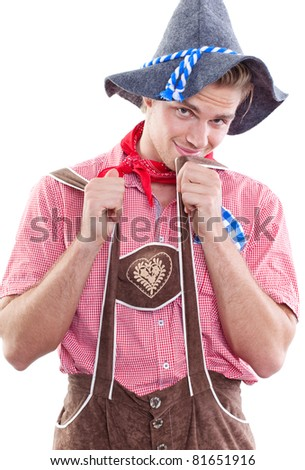 cute traditional man - stock photo
