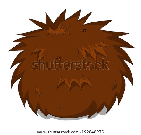 Cute unusual cartoon hedgehog  - stock photo