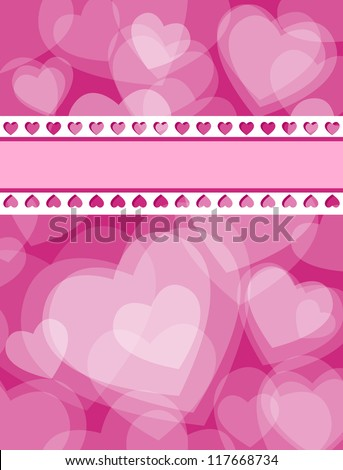 Cute Valentines Day Love Card Made Stock Illustration 117668734
