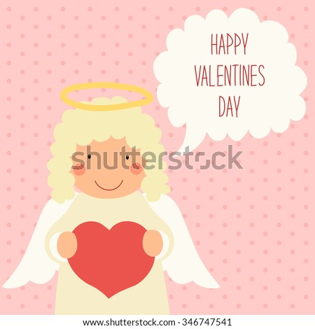 Cute Valentines Day Card Hand Drawn Stock Illustration 346747541 ...