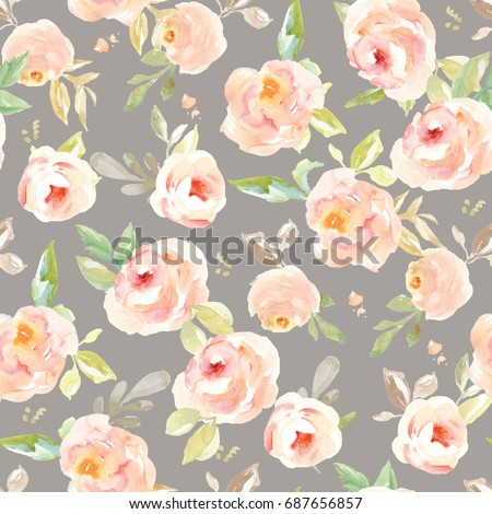 Cute Vintage Floral Wallpaper Background Pattern