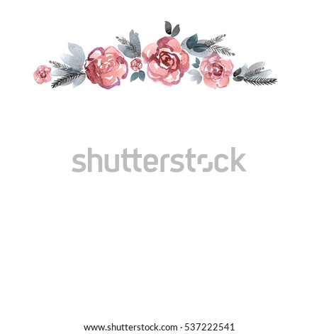 Cute Watercolor Flower Frame Stock Images, Royalty-Free Images & Vectors | Shutterstock