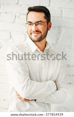 Cute white young man - stock photo