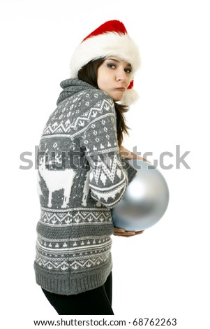 cute xmas Grinch - stock photo