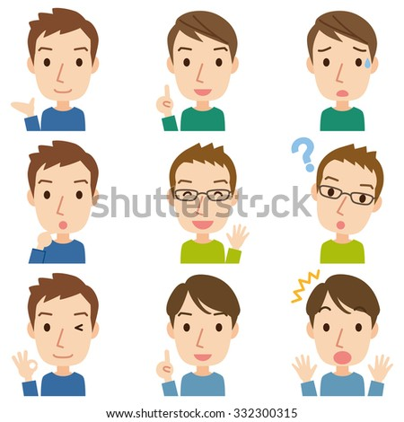 cute young dad - stock photo