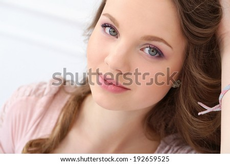Cute, young girl with beautiful face