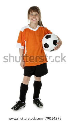 Cute Young Soccer Player - stock photo