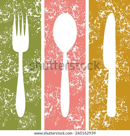 Cutlery background - stock photo