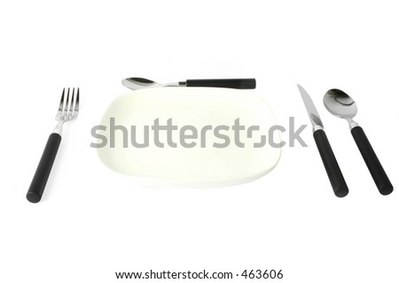 cutlery set on the table