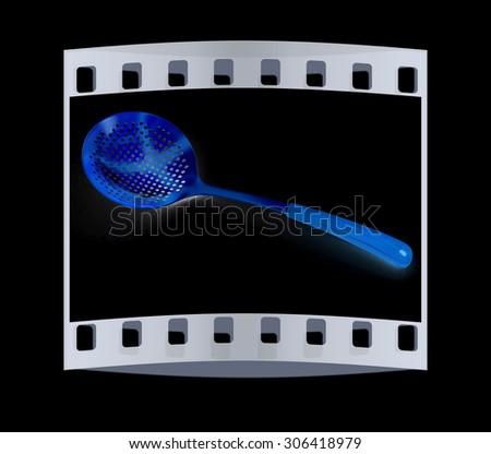 cutlery. The film strip - stock photo