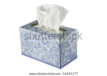 Cutout Tissue Box - stock photo